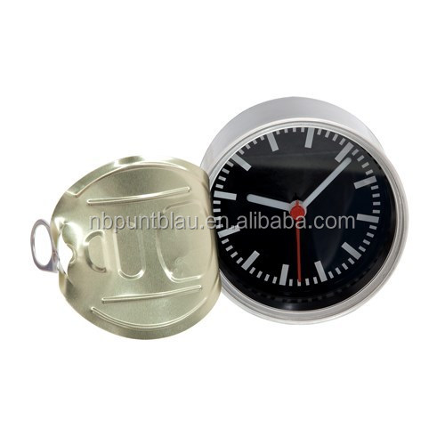 Hot metal canned shaped table clock