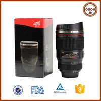 camera lens stainless steel coffee cup for coffee to go