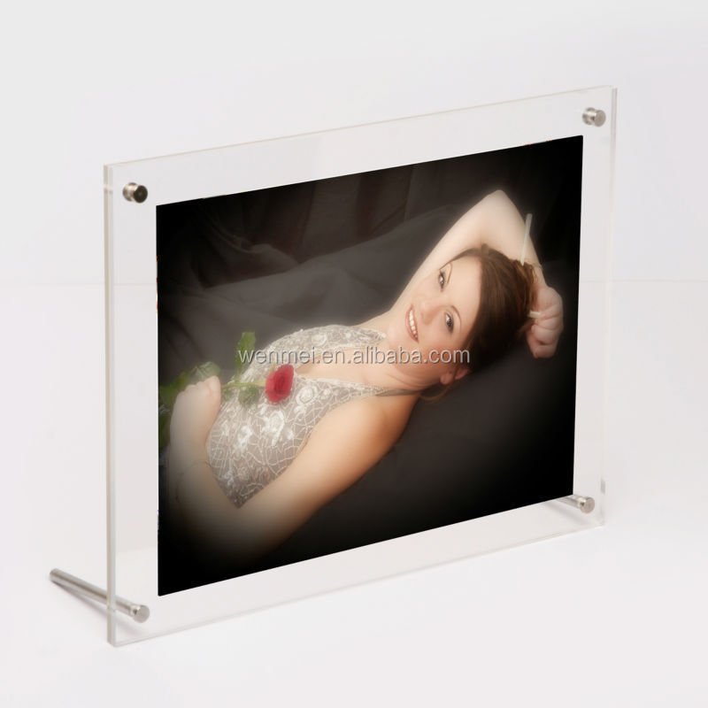 2015 NEW Style & Hot sale clear acrylic photo Frame, magnetic picture frame 6 x 8