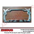 Zinc alloy coconut tree license plate frame