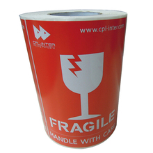Large Fragile Handle With Care Stickers, Fireproof Fragile Shipping Print Warning Label