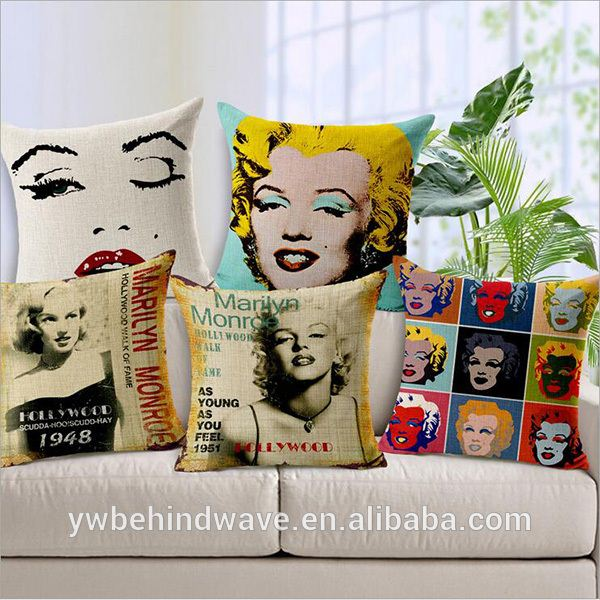 Sexy cotton outdoor cushions sofa cushions digital printing cushion cover