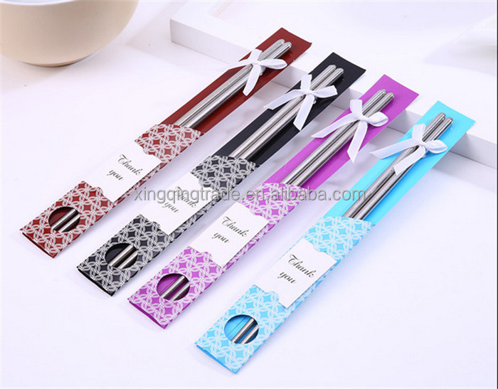 East Meets West Stainless steel chopsticks Chinese style wedding Wedding Function favors gifts