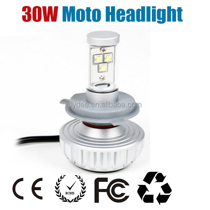 3S 3000LM LED 30W Moto H4 Motorcycle Headlight