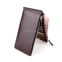 Universal phone leather case many card slots wallet leather mobile phone case
