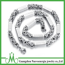 Byzantine Style Heavy 316L Stainless Steel Mens Chain Necklace Jewelry Wholesale