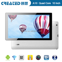 Android 4.2 double cameras 10 inch tablet pc quad core pad wifi