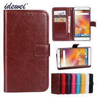 Luxury Flip PU Leather Wallet Mobile phone Cover Case For ZTE Blade A610 with Card Holder