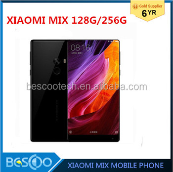 "Original Xiaomi Mi Mix 128G/256GB Snapdragon 821 Quad Core NFC FDD LTE 4G 16.0MP 6.4 "" 2040x1080P FHD 4300mAh Mobile Phones"