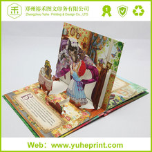 Professional design wholeasle high quality promotional printing 3d children cheap hardcover book printing