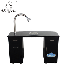 nail bar manicurist table with nail dust collector