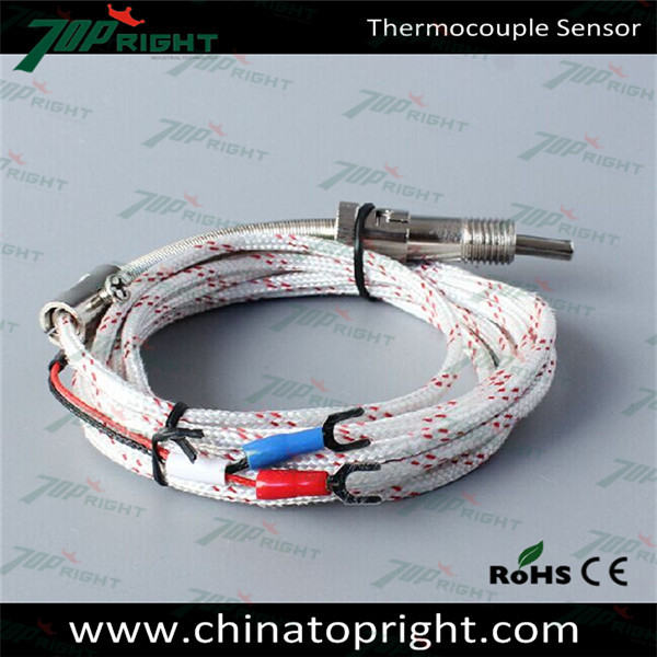Topright type K bayonet spring loaded thermocouple