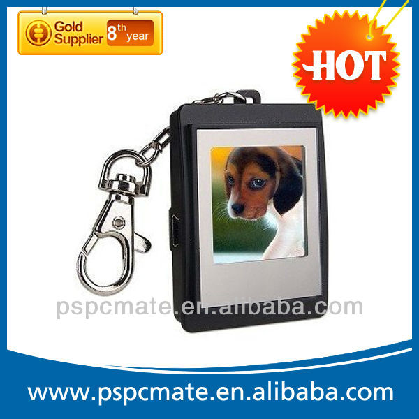 mini 1.5 inch digital photo frame with keychain