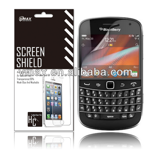 Clear screen protector film / screen filter for Blackberry Bold 9930