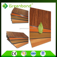 Greenbond anti-static plastic wood wall decoration composite shower facade panel