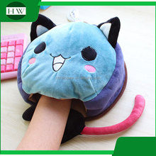 custom promotion rubber usb warmer heated cartoon animal wrist mouse mat pad