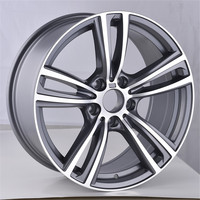 New design Gunmetal polished machined size 17 18 inch 5X120 Replica Aluminum alloy wheel rims