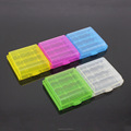 Beautiful Clear plastic battery case Rechargeable AA AAA Batteries storage box