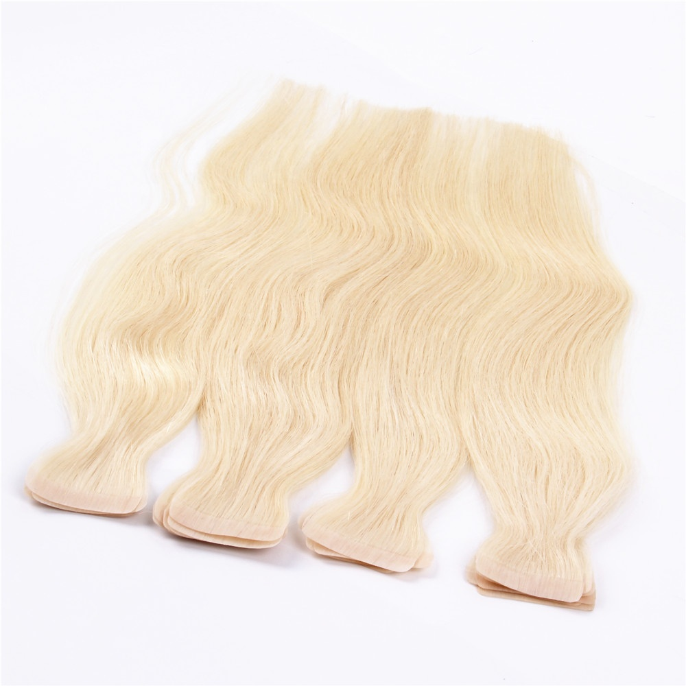 Wholesale 100% Virgin Russian Remy Tape Hair Extensions Cuticle Aligned  Hair Extensions Virgin Human Tape Hair