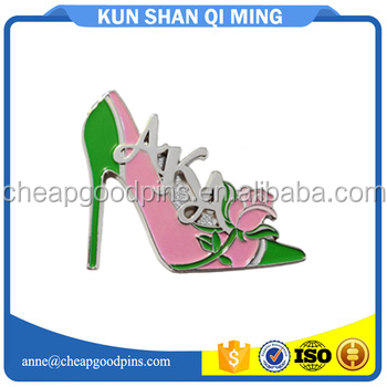high-heeled shoes shape lapel pins high quality