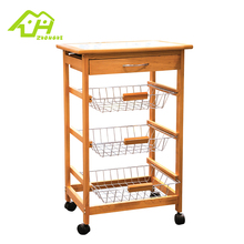 Wholesale 3 Tiers Wire Metal Kitchen Storage Trolley