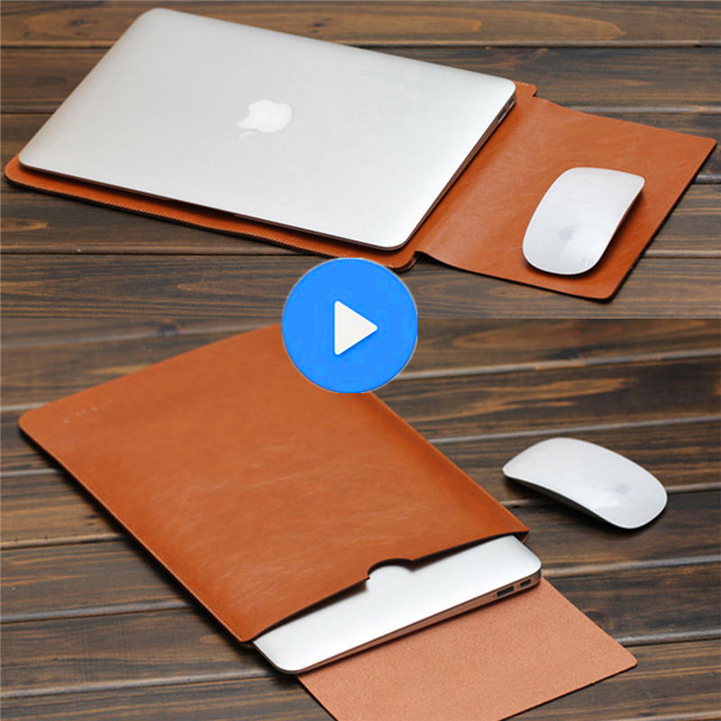 PU Synthetic Leather For Macbook Air Pro Retina Laptop Bag Case Sleeve Notebook Carry Bag For MacBook Case Pouch