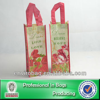 100% Recycled Fabric Fancy Wine Bag 6 Bottles