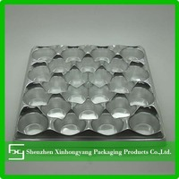 gift packing blister tray,food blister tray,silver color blister tray