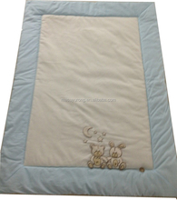 Hot sale European style embroidery baby quilt MS-267