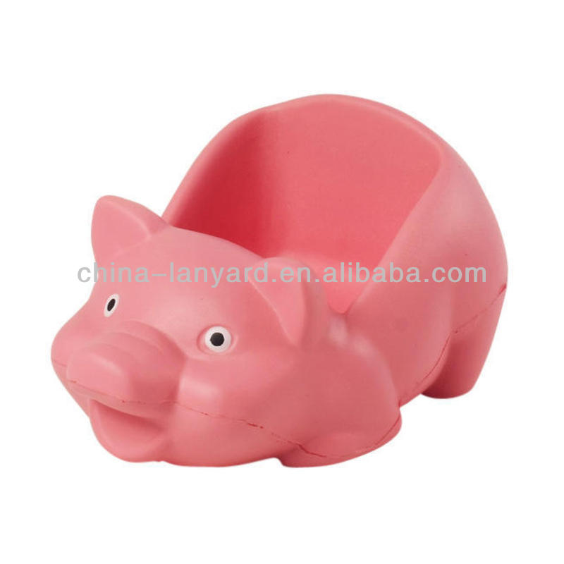Pig Cell Phone Holder Stress Balls