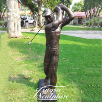 Garden Decoration Life Size Bronze Golf Statue with High Quality
