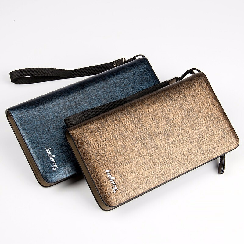 2016 Baellerry Casual Style Zip and Oblong Pattern Men Wallets