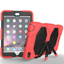 TPU+PC+Silicone Shockproof Armor Case Combo Cover For iPad Mini 4 Case