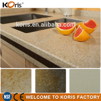 Production Polished solid Surface marble countertop kitchen prices
