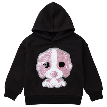 Custom Logo Wholesale Fashion Youth Reversable Sequin 100%Cotton French Terry Pullover Hoodie