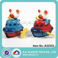 wind up boat cartoon animals plastic swing kayak wind up toy