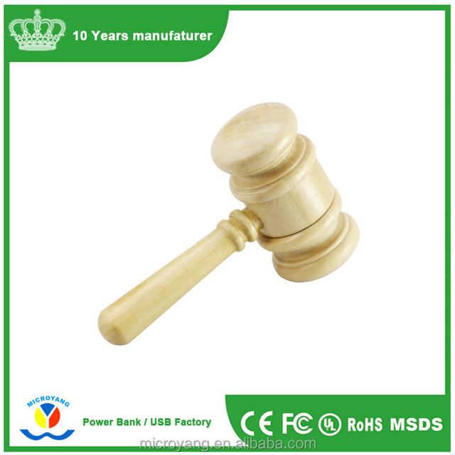 Bulk items cheap price wood usb stick hammer bamboo usb pen drive promotional gift thumbdrive