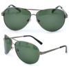 Green lens grey frame