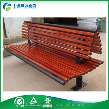 Landscape bench, recycled plastic wood bench, double seat