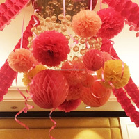 Colorful wedding paper pompoms/paper ball/paper flowers