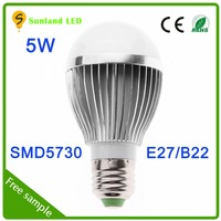 500LM smd 5730 5w e27 base outdoor light bulb covers