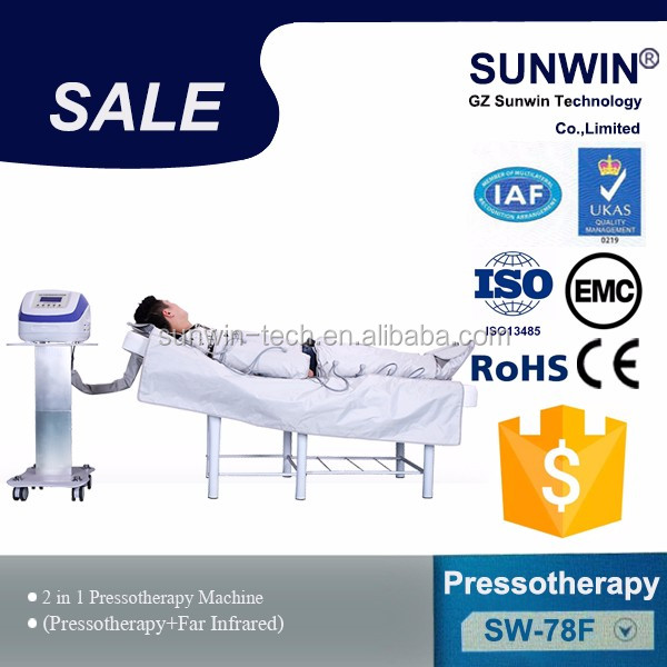 lymph drainage slimming pressoterapia /air pressure therapy massager equipment