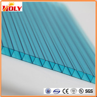 building materials poly carbonate plastic sheets 6mm clear polycarbonate hollow sheet for skylight