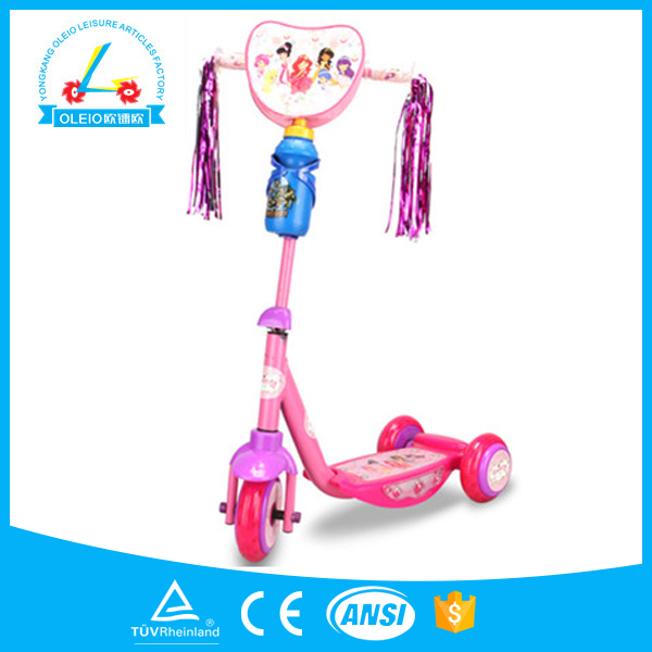 new china good product 3 wheel kick peace sports scooter