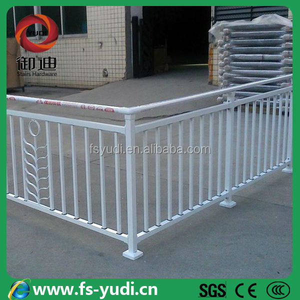 hot sell galvanized steel pipe balcony railing for fence
