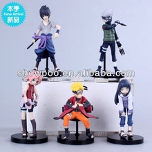 New Style Toy Figure Naruto Sasuke Figure 5 pcs a set box packing Wholesale Fashion Anime Cos Naruto Figure