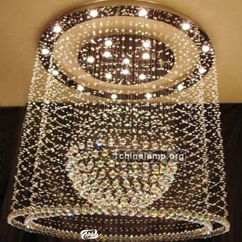 Luxury hotel project large k9 modern crystal ball chandelier