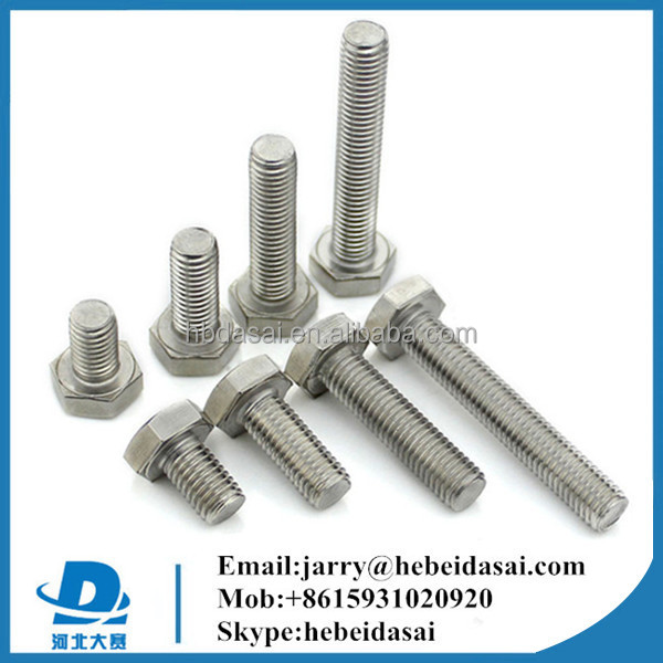 din933 din934 stainless steel bolt nuts