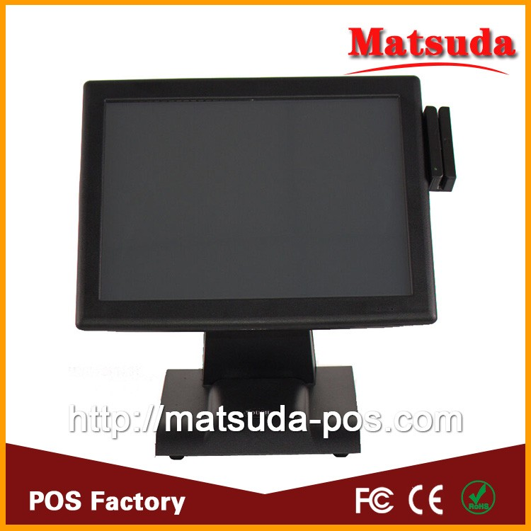 "15"" touch screen computer pos machine for supermarket cashier equipment"