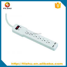 Smart 6 Outlet Energy Saving Surge Protector with 2 USB Ports Power strip